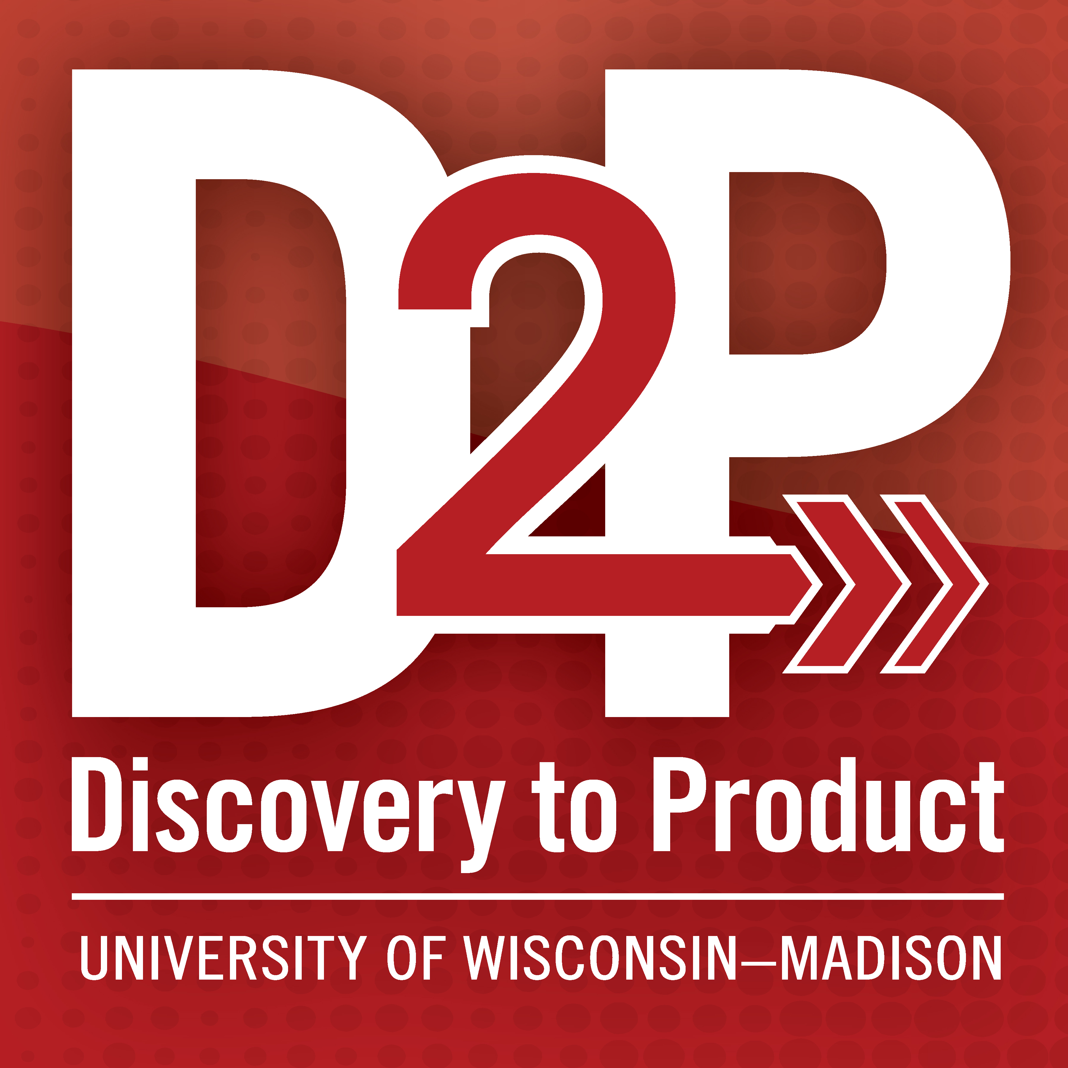 Logo that says D2P, Discovery to Product, University of Wisconsin-Madison