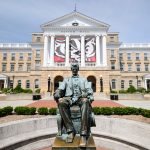 Bascom Hall and Lincoln Statue